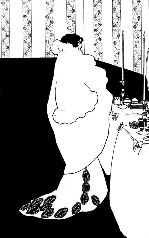 La Dame aux Camélias by Aubrey Beardsley