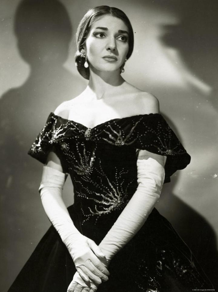 Maria Callas as Violetta Valéry in La Traviata
