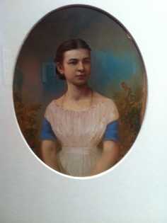 A. Goravsky, Portrait of a young girl, 1867, Salt print, painted