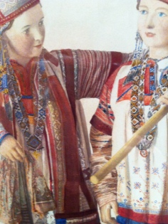 Anonymous, Dolls in Southern Russian costumes from ethnographic exhibition, 1867, Salt print, painted