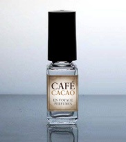 Café Cacao, En Voyage Perfumes. Marie Antoinette took a bit of ambergris in her hot chocolate, did you know?  (We're told that Louis XV was an aficionado as well.)  And Empress Josephine liked her musk so much that she had her workmen embed it in her walls.  Using the coveted royal fragrances of Josephine's musk & Marie Antoinette's amber-laden cocoa, we've created a perfumed version of the Parisienne café mocha. Café Cacao is a sensuous perfume with a surprisingly aphrodisiac effect. Set in a stunning yet subtle amber base that lends a much-appreciated wearability, the dark French roast café,  steamy milk, and dark cacao  are topped with sweet cream, sprinkles of vanilla powder, rose sugar, and cardamom.  Notes include Vanilla Powder, Rose Sugar, Ground Cardamom, Bergamot Peel, Espresso Cafe, Steamed Milk, Salt, Dark Cacao, Rich Whipped Cream, Soft Amber, Himalayan Musk, New Zealand Beach-combed Ambergris.