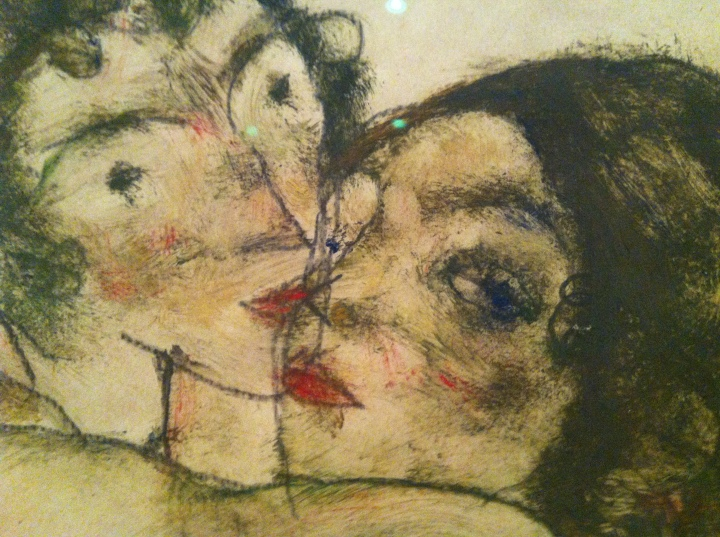 Detail from Two Girls Embracing (Two Friends), 1915