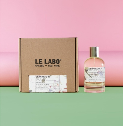 "Geranium 30, Le Labo. Geranium 30 was created by Le Labo's perfumeurs Fabrice Penot and Edouard Roschi together with florist Thierry Boutemy, who created the floral arrangement at Versailles for Sophia Coppola's Marie Antoinette. Inspired by the Petit Trianon, it is described as ""a precarious balance of flowers and spices, creating the permanent feeling of walking in a perfectly arranged mad and wild garden."" Unfortunately only 100 bottles were launched at Opening Ceremony earlier this year."