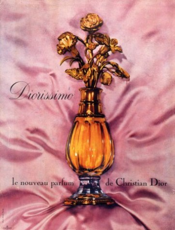 Christian Dior, Diorissimo, launched in 1956. Perfumer Edmond Roudnitska