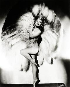 A Vintage Burlesque Dancer