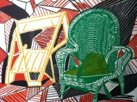Two Pembroke Studio Chairs, from Moving Focus, David Hockney