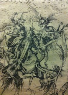 The Temptation of St Anthony, Martin Schongauer, c. 1470