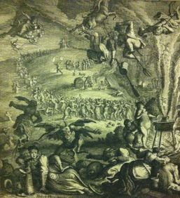 Detail from Zauberey, or Sabbath on the Blocksberg, after Michael Herr, etched by Matthaeus Merian the Elder, 1626