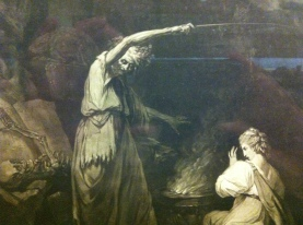 Detail from The Incantation, after John Hamilton Mortimer; Mezzotint by John Dixon, 1773