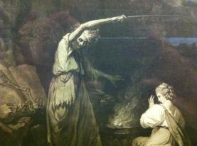 Detail from The Incantation, after John Hamilton Mortimer; Mezzotint by John Dixon, 1773