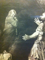 Detail from Sextus, Son of Pompey, Applying to Erichto to Know the Fate of the Battle of Pharsalia, after John Hamilton Mortimer; Mezzotint by Robert Dunkarton, 1776