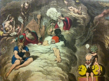 Detail from Shakespeare Sacrificed or The Offering to Avarice, James Gillray, c. 1800