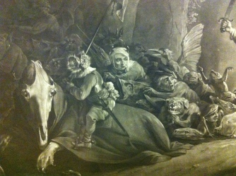 Detail from The Witch, After David Teniers; Mezzotint, Richard Earlon, 1786