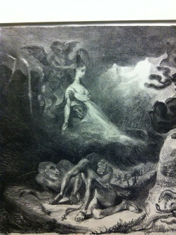 The Ghost of Marguerite Appearing to Faust, Eugéne Delacroix, 1827