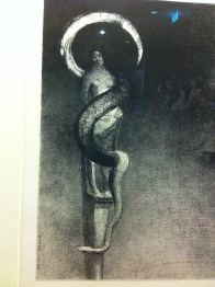 Serpent-Auréole (Serpent Halo), Odilon Redon, 1890