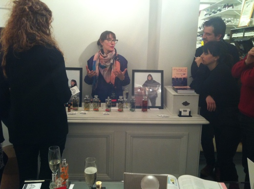 Roullier White hosted Sarah McCartney of 4160 Tuesdays where we each made our own special fragrance blends with 4160 Tuesdays Sexiest Scent on the Planet