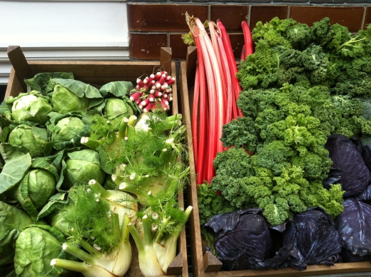 Beautiful vegetables at The Albion