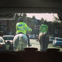 I always love to see bobbies on horseback