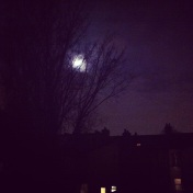 The moon over London