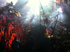 "The forest became a ""perfume sculpture"" with the lights, sounds and scent that the guests could explore."