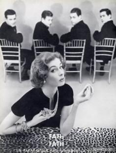 Suzy Parker for Fath de Fath, Les Parfums de Jacques Fath, 1954