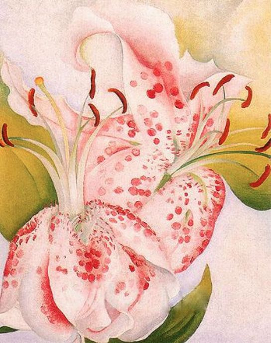 Pink Spotted Lilies, Georgia O'Keeffe 1936