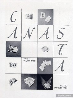 Canasta, Les Parfums de Jacques Fath, 1950