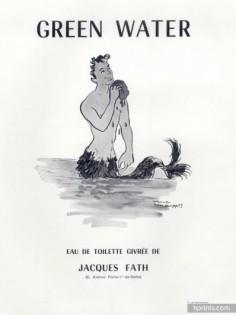 Green Water, Les Parfums de Jacques Fath, Maurice van Moppés, 1953