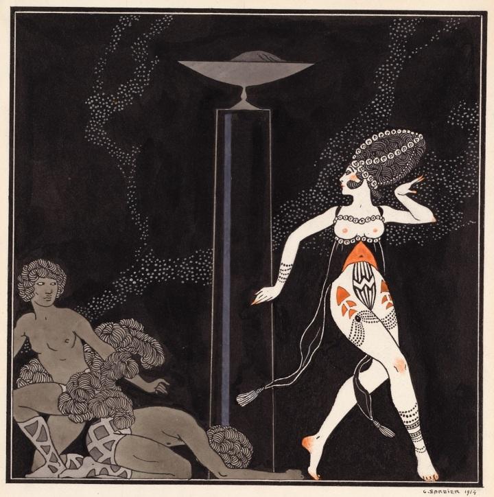 Salome - portrait of Tamara Karsavina by G Barbier, 1914